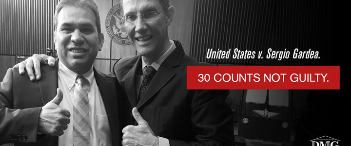 Verdict: Not Guilty on 30 Counts - United States v. Sergio Gardea.